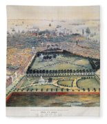 Boston, 1850 Fleece Blanket