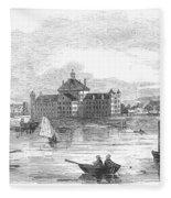 Boston: Almshouse, 1852 Fleece Blanket