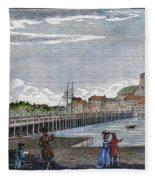 Boston: Charles River, 1789 Fleece Blanket