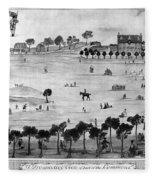 Boston Common, 1768 Fleece Blanket