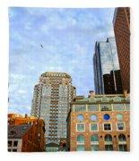Boston Downtown Fleece Blanket
