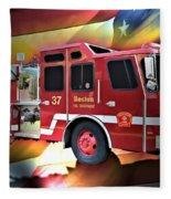 Boston Engine 37 Fleece Blanket