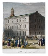 Boston: Faneuil Hall, 1776 Fleece Blanket