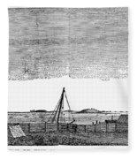 Boston Harbor, 1776 Fleece Blanket