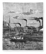 Boston: Iron Foundry, 1876 Fleece Blanket