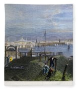Boston, Mass., 1838 Fleece Blanket
