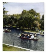 Boston: Swan Boats, C1900 Fleece Blanket