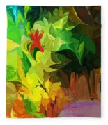 Botanical Fantasy 091612 Fleece Blanket