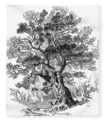 Botany: Oak Tree Fleece Blanket