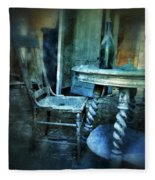 Bottle On Table In Abandoned House Fleece Blanket