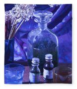 Bottles Of Perfume Essence  Fleece Blanket