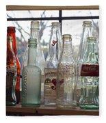 Bottles On The Shelf Fleece Blanket
