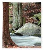 Boulder And Stream Fleece Blanket