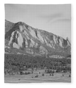 Boulder Colorado Flatiron Scenic View With Ncar Bw Fleece Blanket