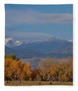 Boulder County Colorado Continental Divide Autumn View Fleece Blanket