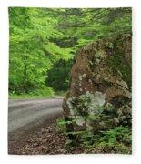 Boulder Rural Mountain Road Spring Fleece Blanket
