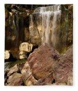 Boulders Under The Falls Fleece Blanket