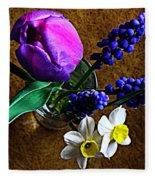 Bouquet Of Bulbs Fleece Blanket