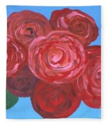 Bouquet Of Roses Fleece Blanket