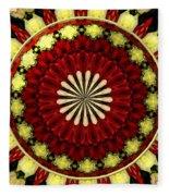 Bouquet Of Roses Kaleidoscope 5 Fleece Blanket