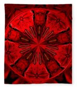 Bouquet Of Roses Kaleidoscope 6 Fleece Blanket