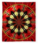 Bouquet Of Roses Kaleidoscope 8 Fleece Blanket