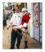 Bourbon Street In Daylight - Santa's Helper Fleece Blanket