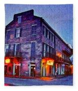 Bourbon Street In The Quiet Hours Fleece Blanket