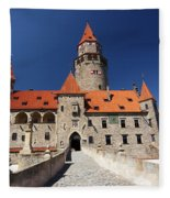 Bouzov Castle Fleece Blanket