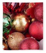 Box Of Christmas Decorations  Fleece Blanket