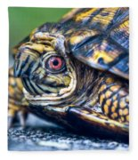 Box Turtle 2 Fleece Blanket