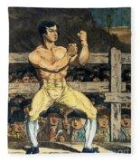 Boxing Champion, 1790s Fleece Blanket