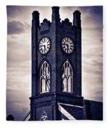 Boyertown Clock Tower Fleece Blanket