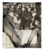 Boys Playing Poker, 1909 Fleece Blanket