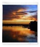 Braden River Sunset Fleece Blanket