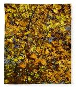 Branches Of Gold Fleece Blanket