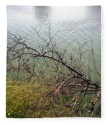 Branchs Over The Waters Edge 2001 Fleece Blanket