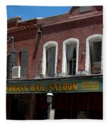 Brass Rail Saloon Fleece Blanket