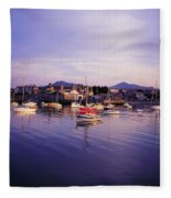 Bray Harbour, Co Wicklow, Ireland Fleece Blanket