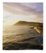 Bray Promenade, Co Wicklow, Ireland Fleece Blanket