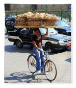 Bread On A Bicycle Fleece Blanket
