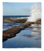 Breaking Surf Fleece Blanket