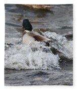 Breaking Threw Fleece Blanket