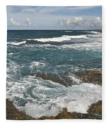 Breaking Waves 7919 Fleece Blanket