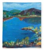 Breakwater On The Great Sacandaga  Fleece Blanket