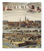 Bremen, Germany, 1719 Fleece Blanket
