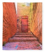 Old Stairs - Bisbee Az Fleece Blanket