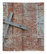 Brick Wall Cross Fleece Blanket