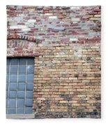 Brick Wall Window Fleece Blanket