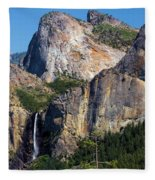 Bride At Yosemite Fleece Blanket